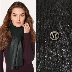 NEW! Lululemon All That Shimmers Wool Scarf Black